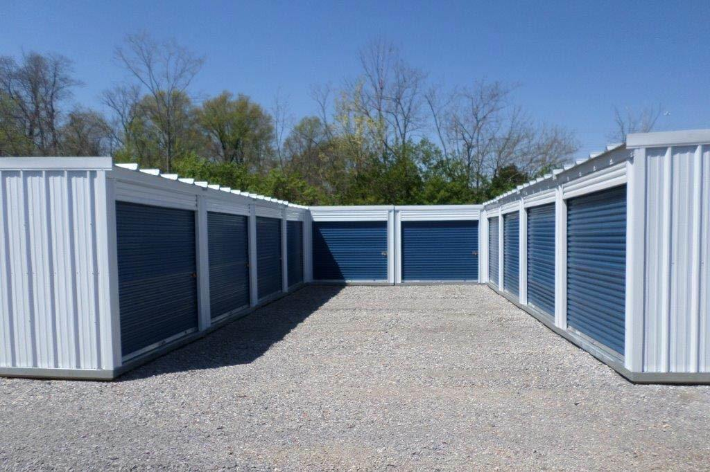 Exterior Of Clean Storage Units at Compass Self Storage in Cincinnati