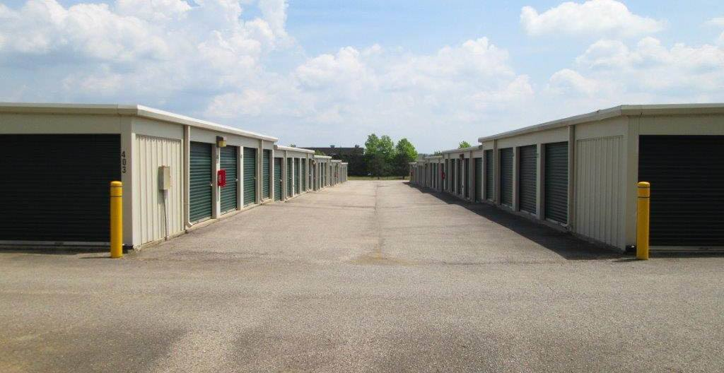Clean Exterior Storage Units at Compass Self Storage in Hebron