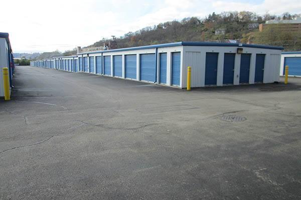 exterior of storage units at Compass Self Storage in Cincinnati