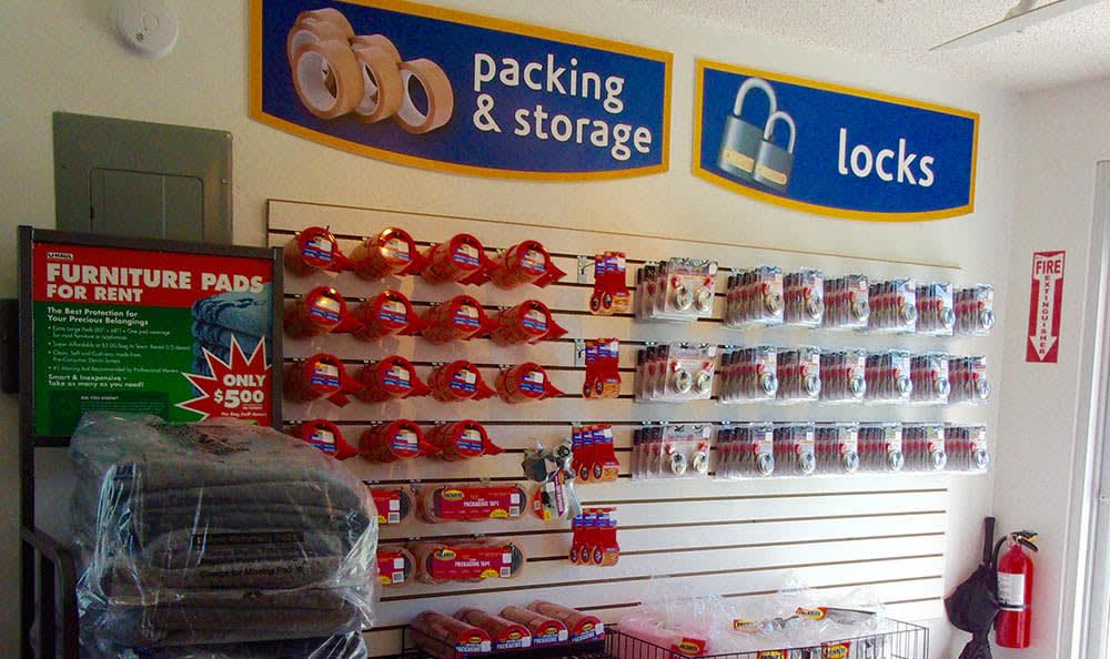 Storage Unit Supplies at Compass Self Storage in Acworth, GA