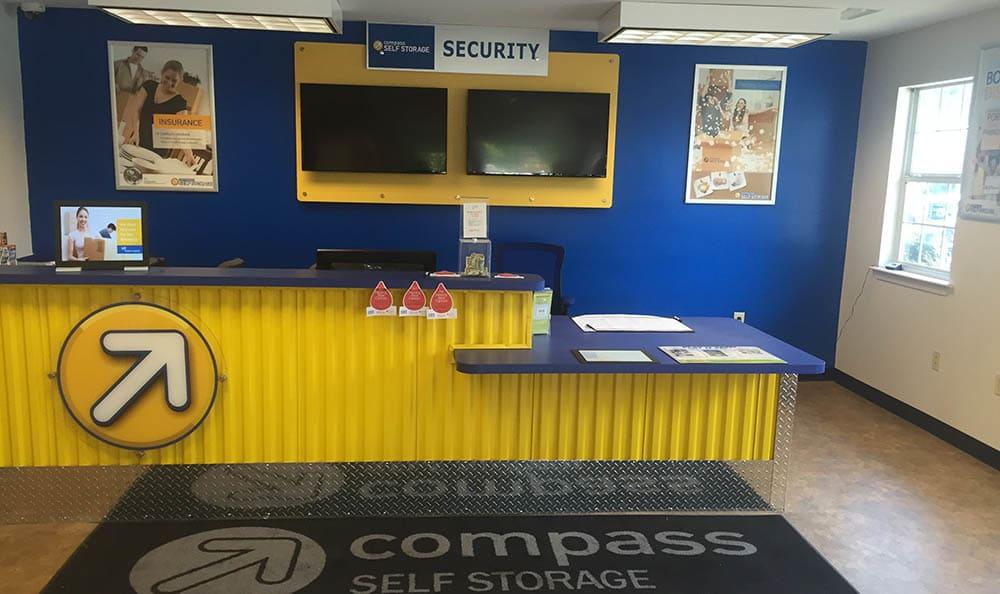 Leasing Office Desk at Compass Self Storage in Marietta, GA