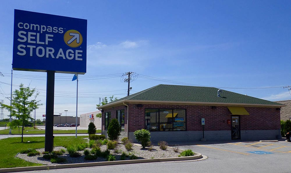 Exterior Of Office at Compass Self Storage in Lansing, IL
