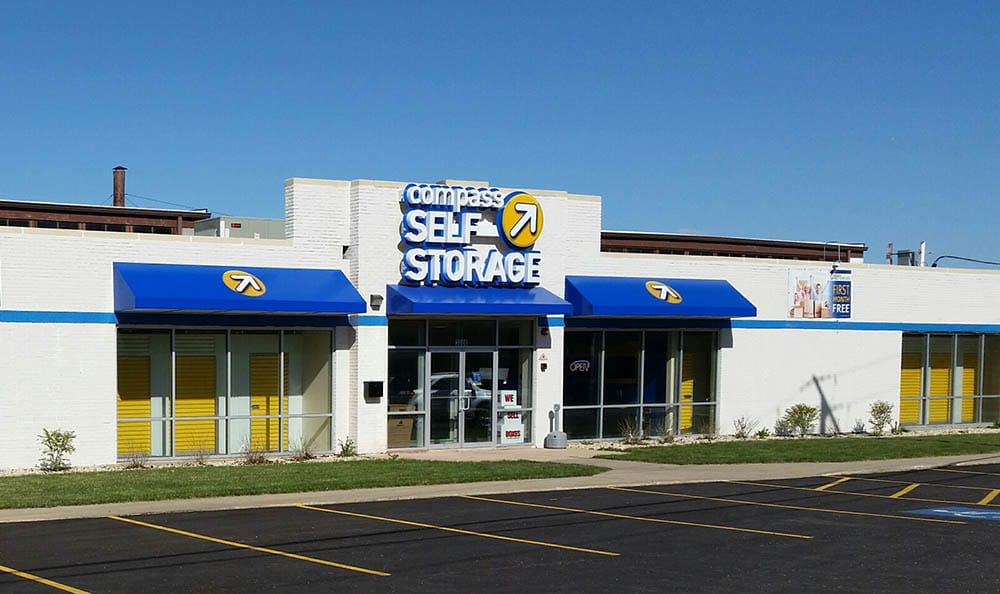Exterior Of Storage Unit Facility at Compass Self Storage in River Grove, IL