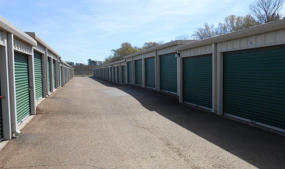 Drive Up Storage Units at Compass Self Storage in Nesbit, MS