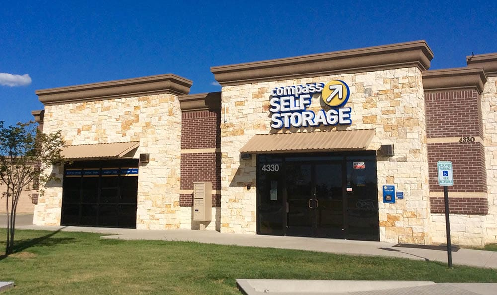 Exterior Of Storage Units at Compass Self Storage in Grand Prairie, TX