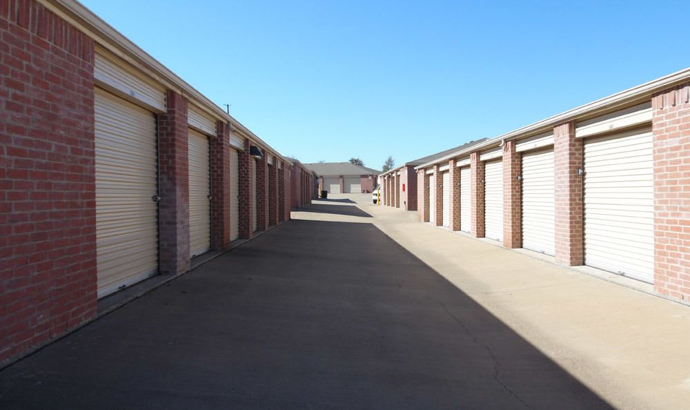 Drive up storage units at Compass Self Storage