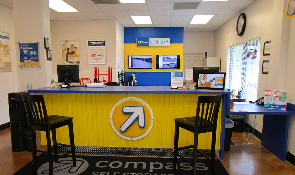 Leasing Office at Compass Self Storage in Fate, TX