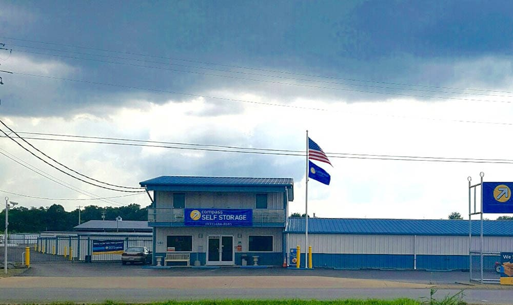 Exterior View of Office at at Compass Self Storage in Shelbyville, TN