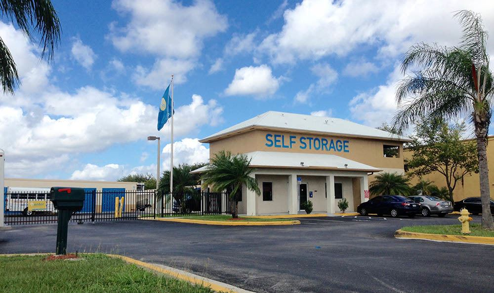 Leasing office at Compass Self Storage in West Palm Beach, Florida
