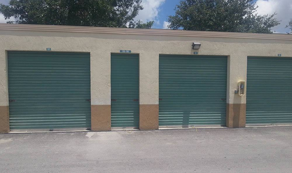 Storage units at Compass Self Storage in West Palm Beach, Florida