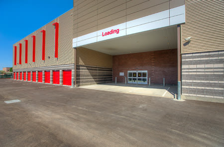Loading zone at StorQuest Self Storage