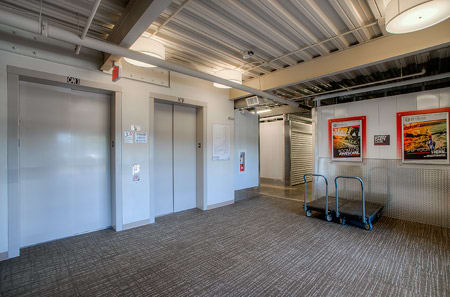 Interior elevators at StorQuest Self Storage in Phoenix, AZ