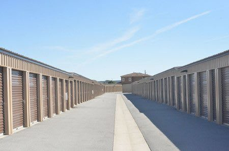 Exterior of storage units at StorQuest Self Storage in Sparks, NV
