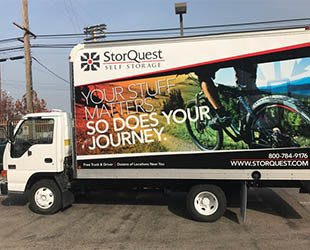 StorQuest Self Storage moving truck in Vero Beach