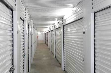 White and clean interior units at StorQuest Self Storage
