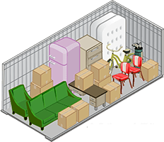 10x15 storage unit offered at Storage Haven