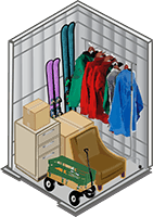 5x5 storage unit at Wrondel Self Storage