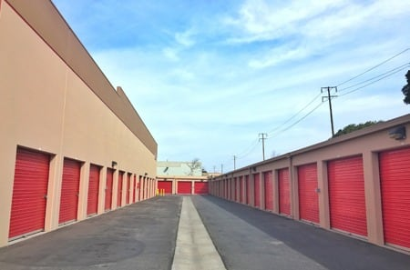 Interior hallway for self storage units in Oxnard