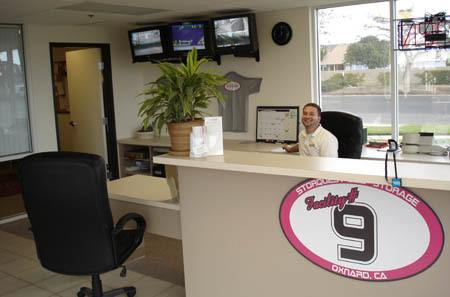 Self storage office interior in Oxnard