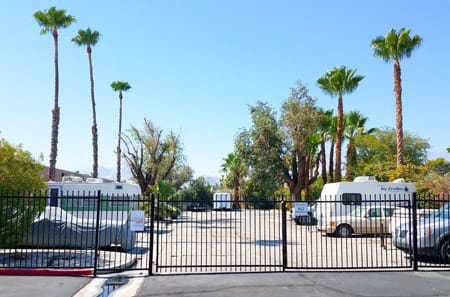 Outdoor Parking Storage at StorQuest Self Storage in Palm Springs