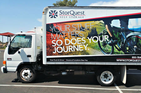 Moving Truck at StorQuest Self Storage in Parker, CO