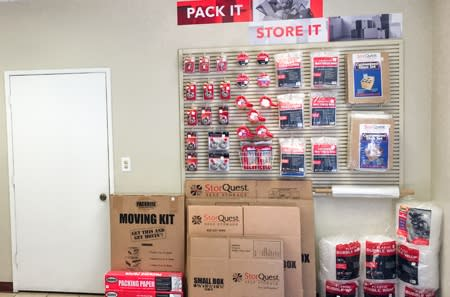 Moving and packing supplies are available at StorQuest Self Storage