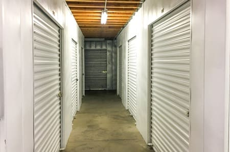 Clean indoor storage units available at StorQuest Self Storage