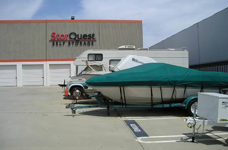 Boat storage at StorQuest Self Storage in Torrance, CA