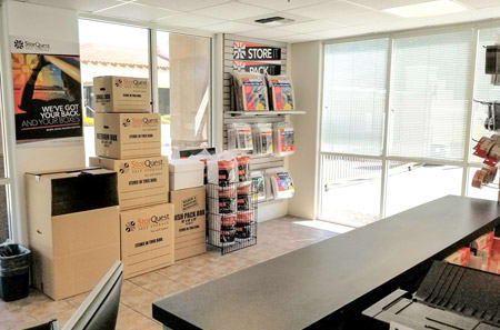 Storage Supplies At StorQuest Self Storage In La Quinta, CA