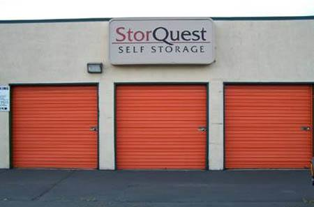 Self storage building exterior in San Leandro