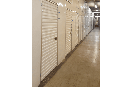 View of interior storage units at StorQuest Self Storage in Honolulu