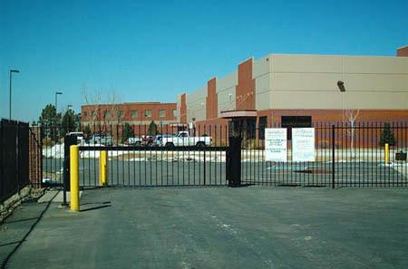 Centennial self storage exterior gate