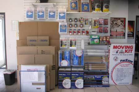 Packing and shipping supplies at StorQuest Self Storage in San Fernando, CA