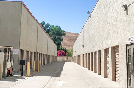 Drive up units at StorQuest Self Storage in Riverside, CA