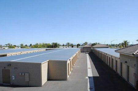 Outdoor storage at StorQuest Self Storage in Sun City, AZ