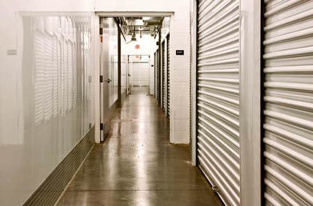 Interior hallway for self storage units in Sun City