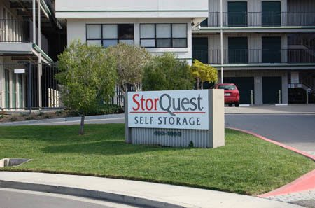 San Rafael self storage facility entrance