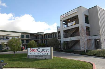 Gated entrance at StorQuest Self Storage in San Rafael, CA