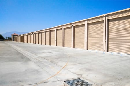 Indio self storage facility exterior units