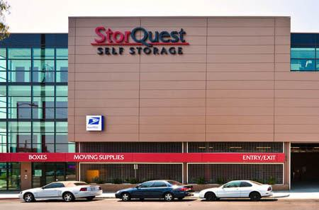 Exterior view of StorQuest Self Storage in Los Angeles.