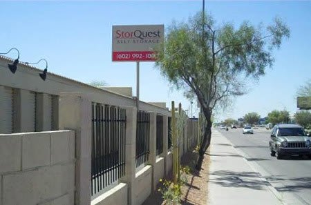 Phoenix self storage facility entrance