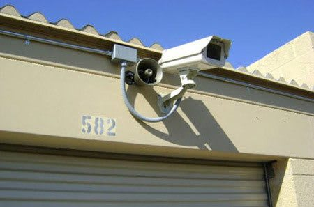 Security camera in storage units at StorQuest Self Storage