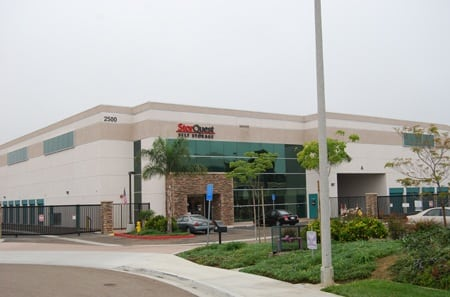 Self storage building exterior in Carlsbad