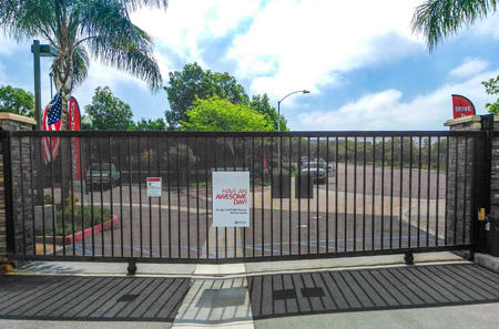 Gated Entrance at StorQuest Self Storage in CA