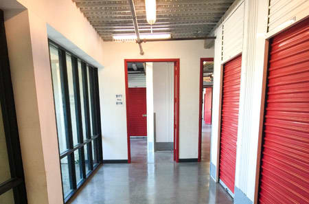 Interior hallway for self storage units in Carson