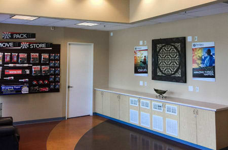 office interior at StorQuest Self Storage in Carson, CA