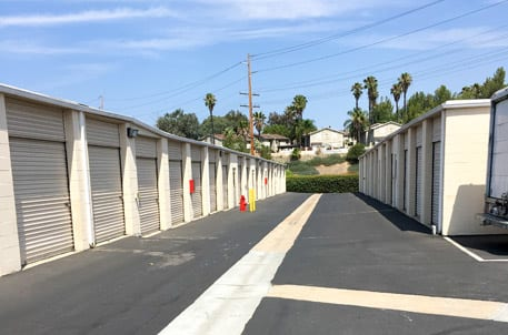 Outside storage units at StorQuest Self Storage in Temecula