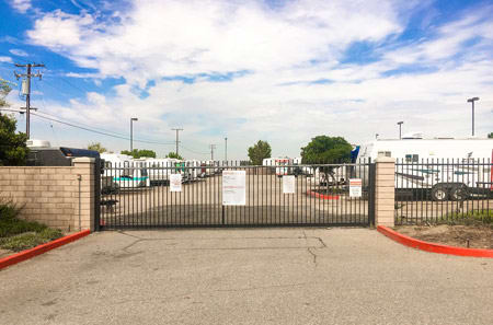 Self storage building exterior gate  in Moreno Valley