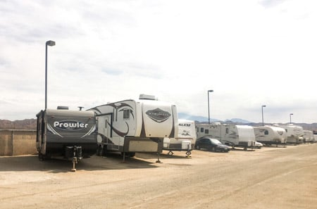 Large RV Storage at StorQuest RV and Boat Storage in Moreno Valley, CA