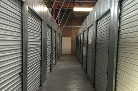 Inside of storage, view of units exterior